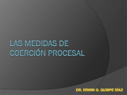 Las medidas de coerción procesal