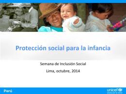 Protección social para la infancia en Perú