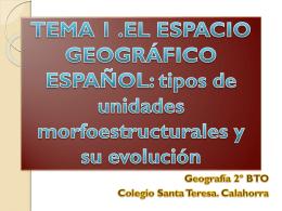 Tipos unidades morfoestructurales y su evolución.