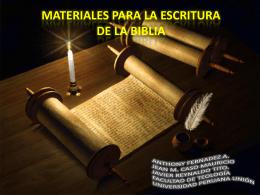 Materiales para la transmisión de las Sagradas Escrituras