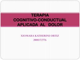 TERAPIA COGNITIVO-CONDUCTUAL APLICADA AL DOLOR
