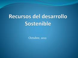 Recursos del desarrollo Sostenible