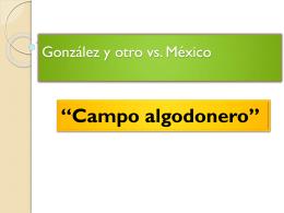 Gonzalez y otro vs. México