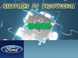 4 sistemas de produccion ford