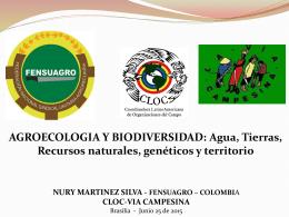 Nury Martínez Silva, FENSUAGRO Colombia – CLOC/Vía Campesina