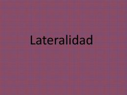 Lateralidad
