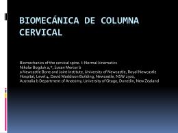 biomecánica de columna cervical