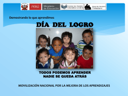 Día de Logro - UGEL-06