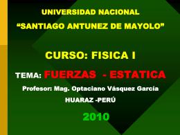 FUERZAS ESTATICA OPTA 2010 II