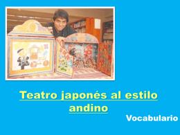 Teatro japonés al estilo andino