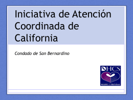 Power Point para el condado de San Bernardino