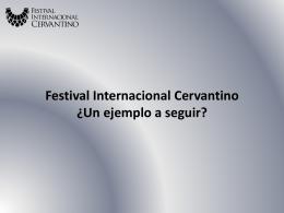 Festival Cervantino - Foro de Cultura y Turismo