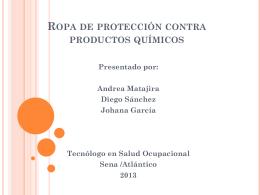 Ropa de protección contra productos químicos