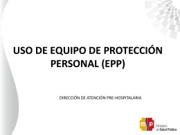 Capacitaciones EPP-Ebola-1 - Ministerio de Salud Pública