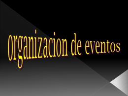 organizacion d eventos