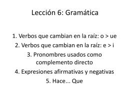 Lección 6: Gramática