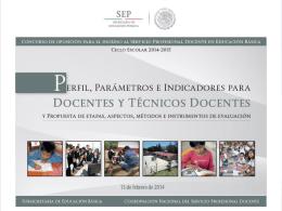 Perfil Parametros e Indicadores de EF