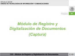 CGl – Módulo de Registro y Digitalización de Documentos CGI