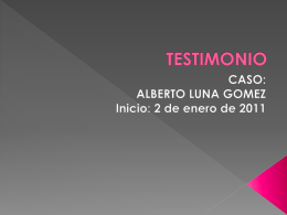 TESTIMONIO - WordPress.com
