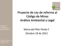 Proyecto de Ley de reforma al Codigo de Minas Análisis Ambiental