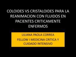 coloides vs cristaloides para la reanimacion con