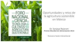 Oportunidades y retos de la agricultura sostenible en México