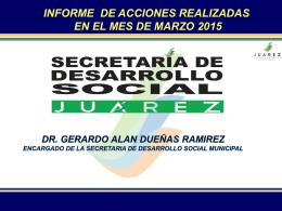 Actividades de la secretaria de Desarrollo Social Marzo 2015