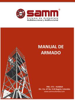 MANUAL DE ARMADO ANDAMIO REF 2,07m y 3m