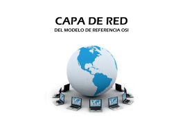 CAPA DE RED - fundamentos
