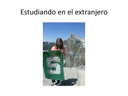 Estudiando en el extranjero