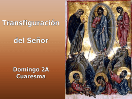 II Domingo de Cuaresma, Ciclo A. San Mateo 17, 1