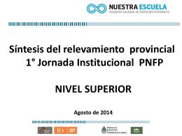Presentación resultados jornadas PNFP Final