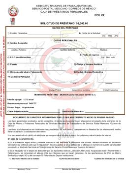 sindicato nacional de trabajadores servicio postal mexicano caja de