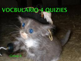 Vocbulario 4 Quizies