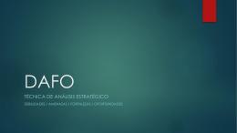 Presentación sobre DAFO