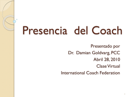 Presencia del Coach - International Coach Federation