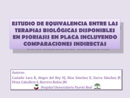 estudio de equivalencia entre las terapias biológicas disponibles en