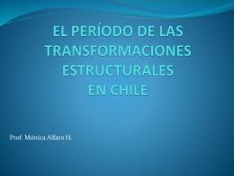 el período de las transformaciones estructurales