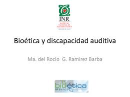 Bioética y discapacidad auditiva