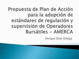 Propuesta de Plan de Acción para la adopción de estándares de