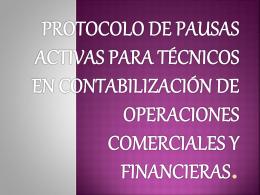protocolo de pausas activas para técnicos en contabilización
