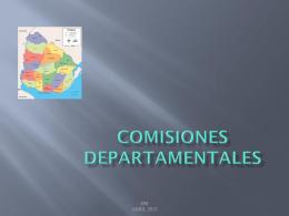 Presentación Comisiones Departamentales