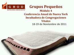 Small Groups Module 4 New York Conference Vital Congregations
