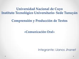 Universidad Nacional de Cuyo Instituto Tecnológico - itu