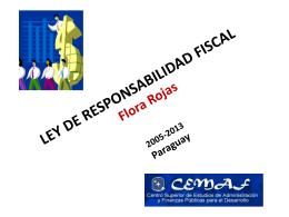 ANTEPROYECTO DE LEY RESPONSABILIDAD FISCAL