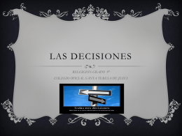 LAS DECISIONES - WordPress.com
