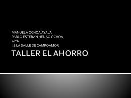 TALLER EL AHORRO - estudiantes