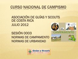 0003 NORMAS DE CAMPAMENTO CURSO