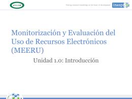 1.0 Presentacion - Introduccion a MEERU