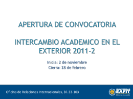 2011-2_ppt_convocatoria_intercambio_en_el_exterior